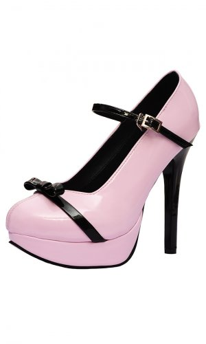 5 inch Jeanie Bow heels with platform
