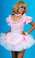 Kitty Gingham Sissy Maid Uniform