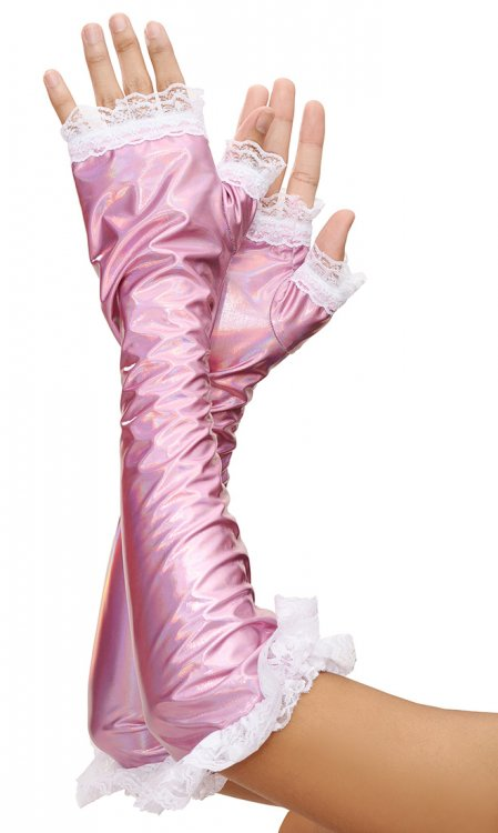 Fingerless Sissy Gloves