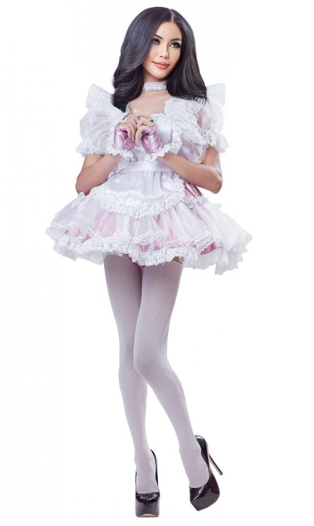 Luxury Frilly Holo Sissy Maid