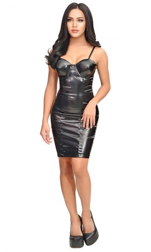Anais Leatherette Dress