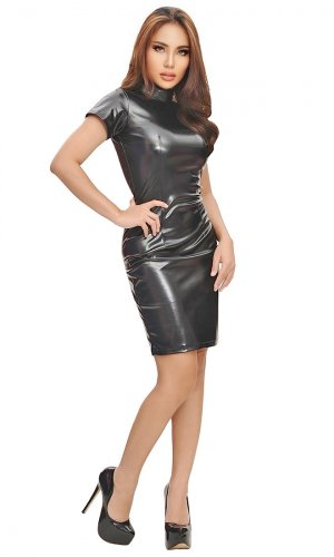 Zanelle Leatherette Dress