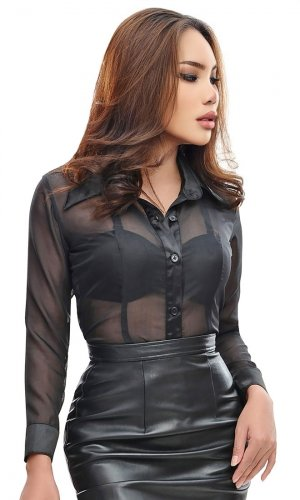 April Sheer Blouse