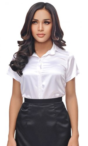 Satin Donnatella Blouse