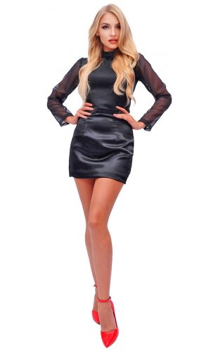 Noy Satin Mini Skirt