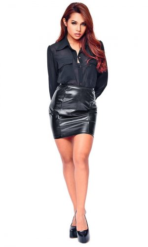 Tatyana Leatherette Mini skirt