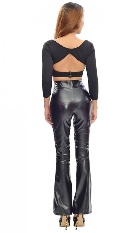 Aurora Leatherette Trousers