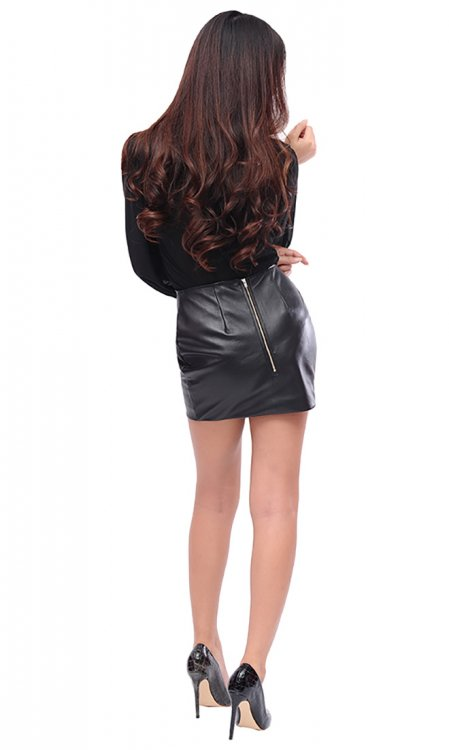 Mimi Lamb Leather skirt