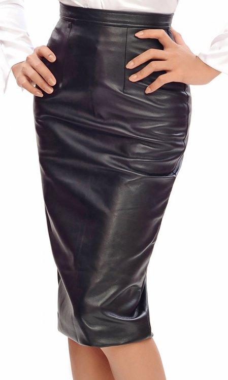 Long Lamb Leather Skirt