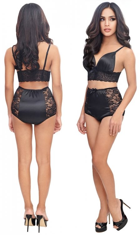 Yana Satin and Lace Lingerie Set