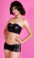 Vana Leatherette Bustier Top