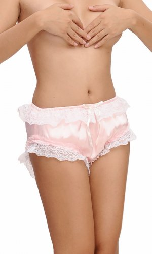 Mimi Lace-trim soft Satin Panties