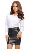 Tarra PVC Tease skirt (thick rear zip)
