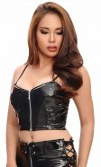 Evie PVC Zipper Top