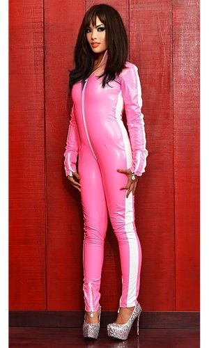 Stripes PVC Catsuit
