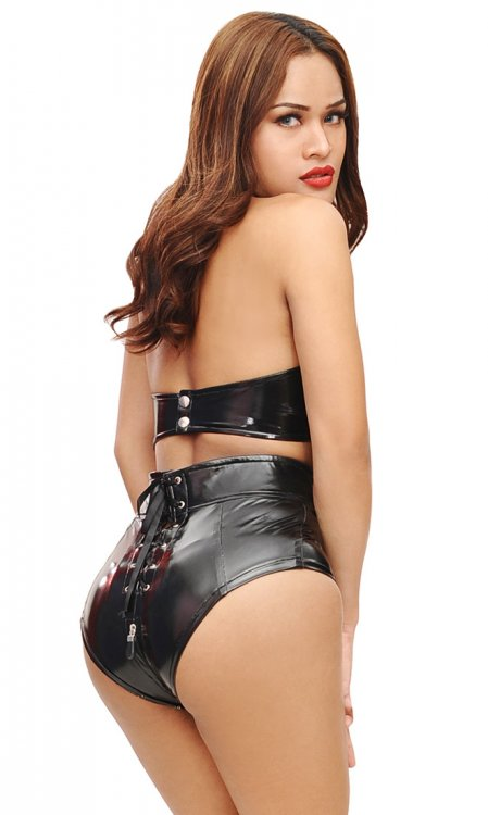 Trinity High PVC Hotpants