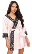 Fabien Satin and Lace Robe