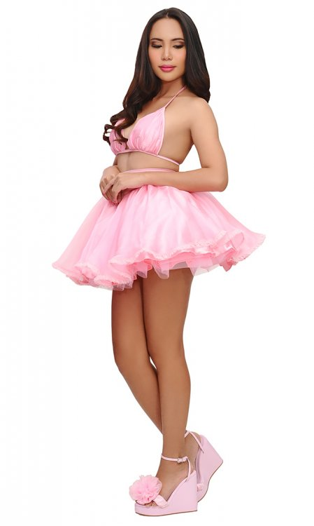 Quelie Sissy Skirt with Petticoat