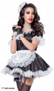 Black Satin French Maid Uniform