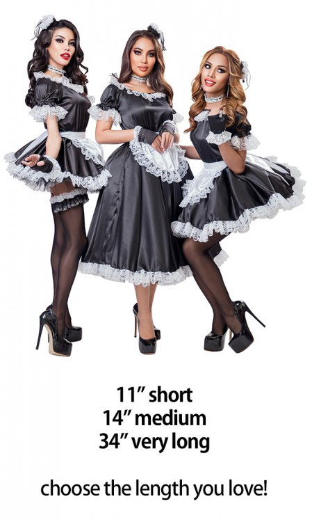 Classic Satin French Maid Uniform