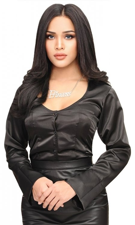Satin Temptress Blouse