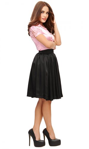 Elegance Long Satin Skirt