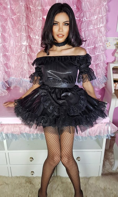 Classic Glossy French Maid Uniform