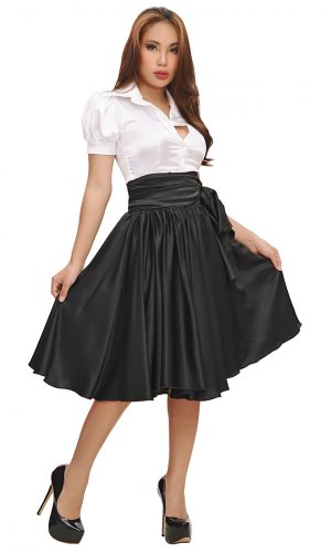 Valentina Flowing Satin Skirt
