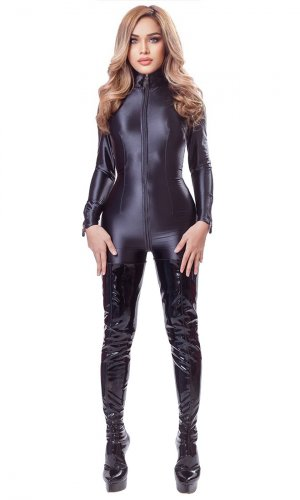 Satin Spandex Luxury Catsuit