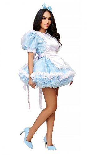 Alice-in-Wonderland Short Sissy Dress