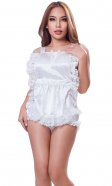 Full-Body Satin Maids Pinafore