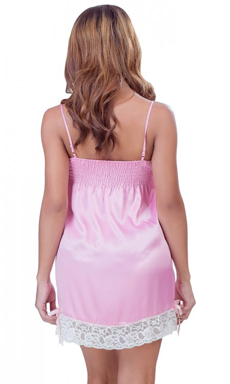 Long Satin Slip with Lace