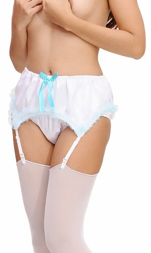 Fawn Satin Suspender Belt