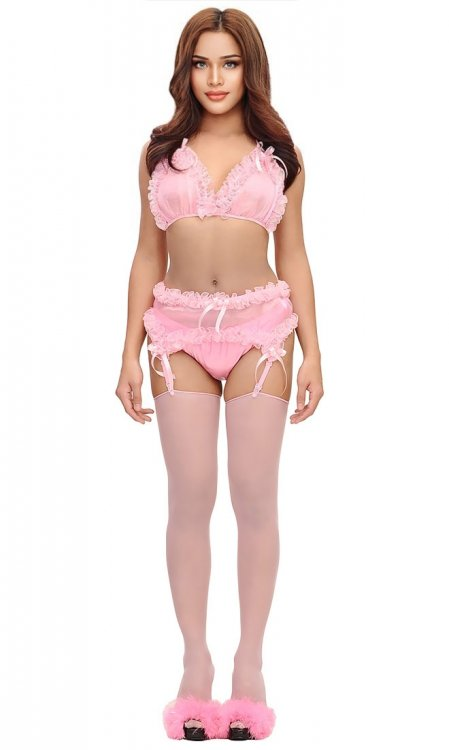 Kimmie Suspender and Panty Set