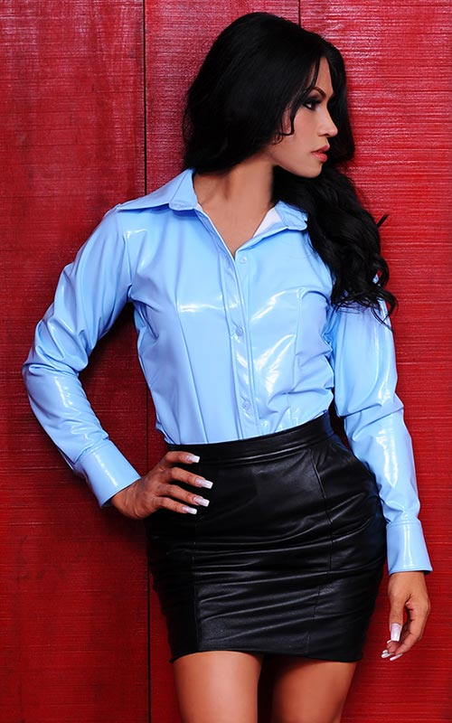 Satin Blouses Sexy Outfit