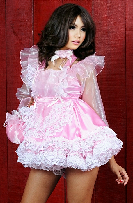 shimmering pansy sissy dress 01 sat562