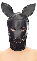 Leather Dogboy Hood