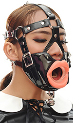 PVC Muzzle Gag with Lips