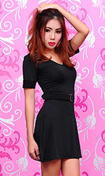 Reyanna Spandex Belt Dress