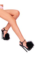 "7"" Maxi Fluffy Bedheels"