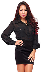 Asha sheer blouse