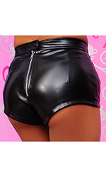 Sizzling Leatherette Hotpants
