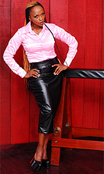 Ava Long Leatherette Skirt