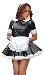 Leatherlook Elegant French Maid