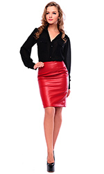 Lamb Devil Leather Skirt
