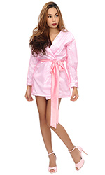 Luxury Plastic and Satin Robe