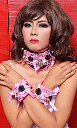 "Prissy Posture Collar and Cuffs 3"" Set"