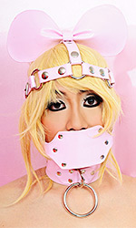 Head and Gag Harness with Sissy Ears