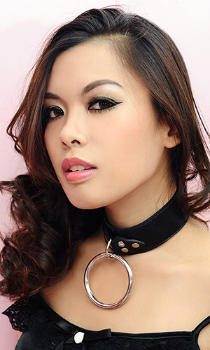 1.5 inch Big-ring Leather Collar with 3 inch O-ring