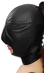Lamb-leather Open Mouth Hood